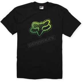 Fox Point To The Fence Black/Green T-Shirt - 47006-151