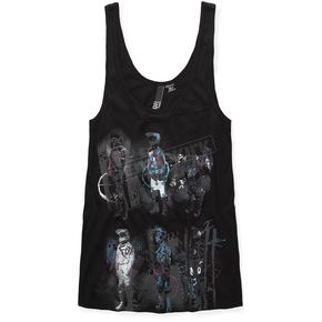 Fox Womens Black Moto On Mars Drop Arm Hole Tank - 53766-001-M