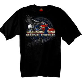 Hot Leathers Flag Bike T-Shirt - GMS1115XXL