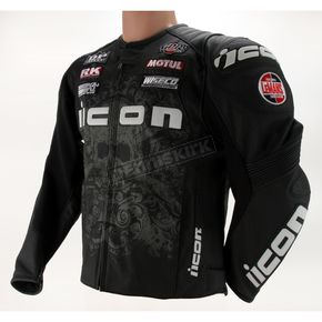 Icon Black Overlord Prime Hero Leather Jacket - 2810-2050