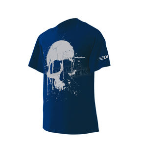 Dennis Kirk Inc. Harbor Blue Road Skull T-Shirt - SKULL T-BL-M