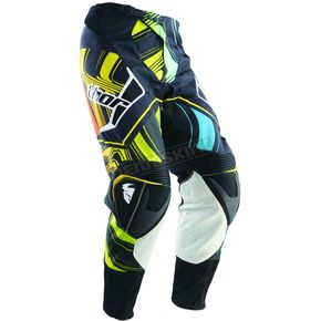 Thor Black/Yellow Flux Ripple Pants - 2901-3320
