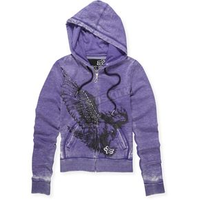 Fox Womens Dark Purple Sector Hoody - 55643-367