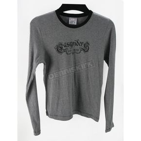 Easyriders Roadware Womens Gray Long Sleeve Gothica T-Shirt