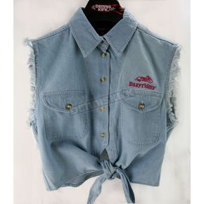 Easyriders Roadware Womens Blue Denim Tie-Up Shirt - 7165L