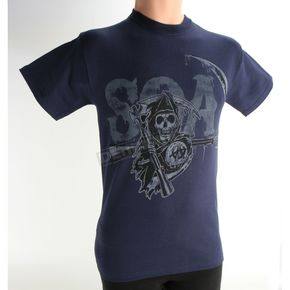 Sons of Anarchy SOA Logo Drip T-Shirt - 28-601-9NV-M