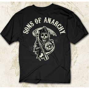 Sons of Anarchy Black SOA Arched with Reaper T-Shirt - 28-605-16BK-XXL