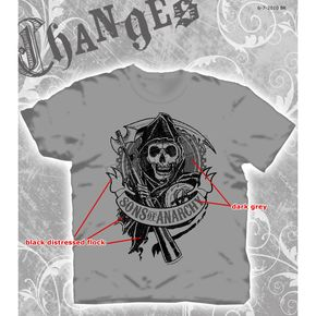 Sons of Anarchy SOA Flocked Gear T-Shirt - 28-671-18CH-M