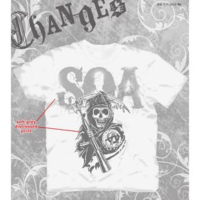 Sons of Anarchy SOA Cracked Letters T-Shirt - 28-601-23WH-S