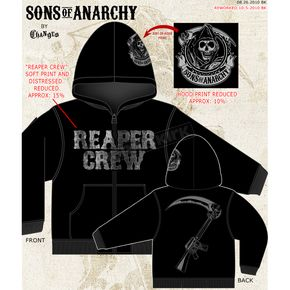 Sons of Anarchy Reaper Crew Zip Hoody - 28-252-33-L