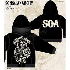 Sons of Anarchy Muted Grim Reaper Zip Hoody - 28-252-62-L