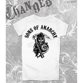 Sons of Anarchy Womens SOA Arched with Reaper T-Shirt - 28-444-2WH-M