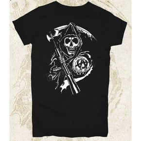 Sons of Anarchy Womens Grim Reaper T-Shirt - 28-444-60BK-L