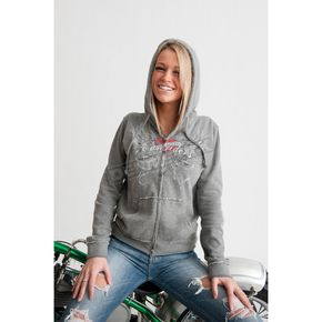 Easyriders Roadware Womens Heartburn Zip Hoody - 3182L