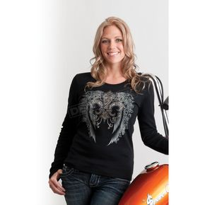 Easyriders Roadware Womens Smoke & Mirrors Long Sleeve Shirt - 3184XL