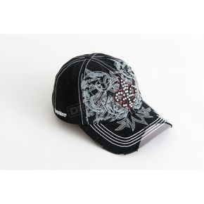 Easyriders Roadware Womens Rhinestone Ball Cap - 7186