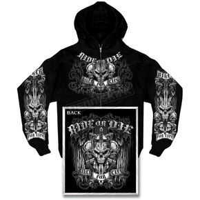 Hot Leathers Ride or Die Zip Hoody - GMZ4015XXL