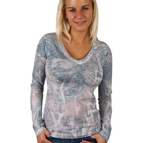 Hot Leathers Womens Ride Free Long Sleeve T-Shirt - GLC3145M