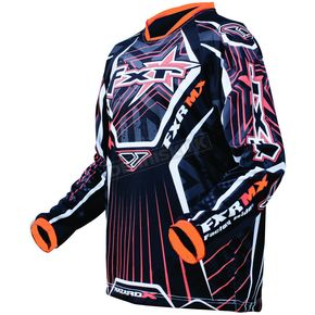 FXR Racing Black/Orange Hazard-X Jersey - 9605