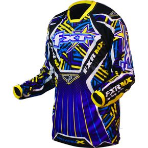 FXR Racing Purple/Yellow Hazard-X Jersey - 9605