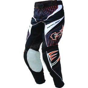 FXR Racing Black/Orange Hazard-X Pants - 9606