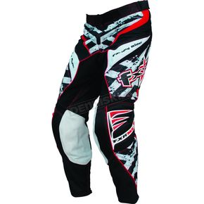 FXR Racing White/Red Hazard-X Pants - 9606