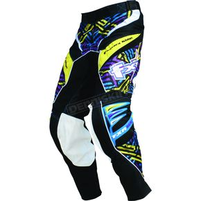 FXR Racing Purple/Yellow Hazard-X Pants - 9606