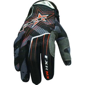 FXR Racing Black/Orange Hazard-X Gloves - 9607