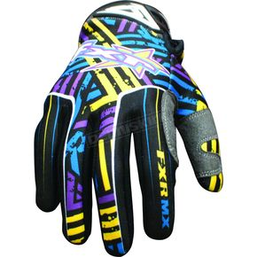 FXR Racing Purple/Yellow Hazard-X Gloves - 9607