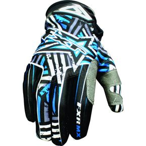 FXR Racing Black/Blue Hazard-X Gloves - 9607