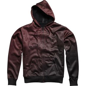 Fox Burgundy Fader Zip Hoody - 45282-171-M
