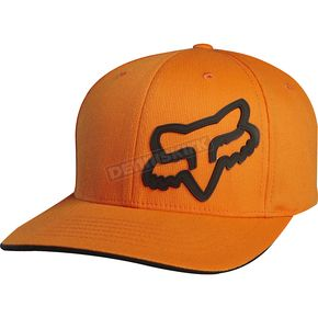Fox Orange Signature Flex-Fit Hat - 68073-009-S/M