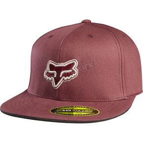 Fox Burgundy Premiere Flexfit Hat - 68089-171-L/XL