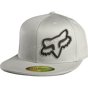 Fox Gray Access Flexfit Hat - 68092-006-L/XL