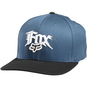 Fox Sulphur Blue Society Flex-Fit Hat - 58355-446-XS/S