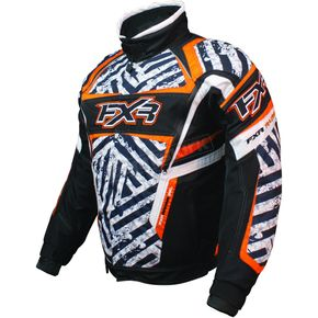 FXR Racing Black/Orange/White Helix Hazard Jacket - 2005