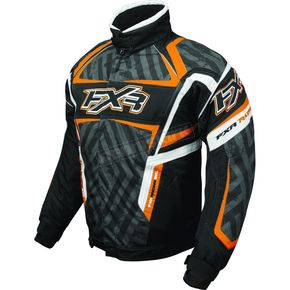 FXR Racing Black/Charcoal/Orange Helix Hazard Jacket - 2005