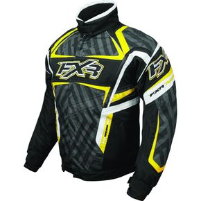 FXR Racing Black/Charcoal/Yellow Helix Hazard Jacket - 2005