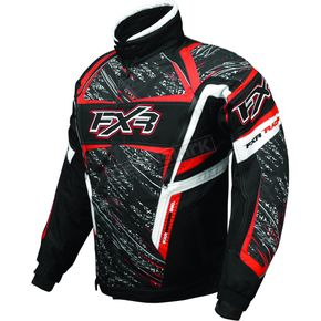 FXR Racing Black/Red Helix Storm Jacket - 2005
