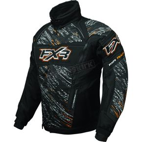 FXR Racing Black/Orange Helix Storm Jacket - 2005