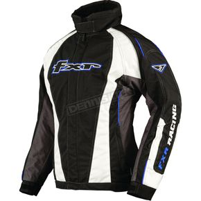 FXR Racing Womens Black/Cyan/Charcoal Fusion Jacket - 1202