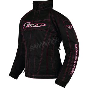 FXR Racing Womens Black/Fuchsia Fusion Jacket - 1202