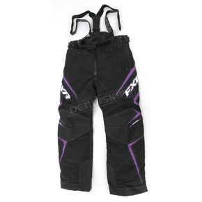 FXR Racing Womens Black/Purple Velocity Pants - 2300.91410