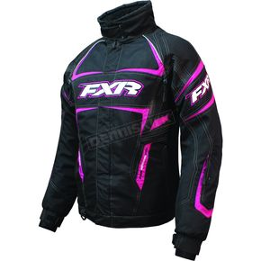 FXR Racing Womens Black/Fuchsia Velocity Jacket - 2200