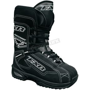 FXR Racing Youth Black/White Backshift Boots - 2904