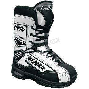 FXR Racing Youth White Backshift Boots - 2904