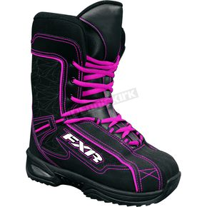 FXR Racing Youth Fuchsia Cold Cross Boots - 2900
