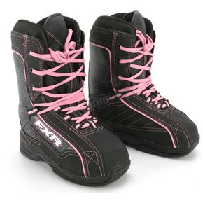 FXR Racing Womens Black/Pink Cold Cross Boots - 2900