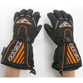 FXR Racing Black/Orange Fuel Gloves - 2801