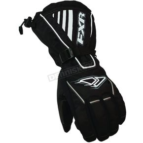 FXR Racing Black/White Fuel Gloves - 2801